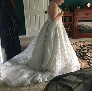 Size 22W Glitter Wedding Ball gown